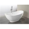 "MTD Vanities Seal 69""  Modern Freestanding Acrylic Bathtub"