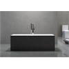 "Long Beach 60"" Modern Freestanding Acrylic Bathtub Black Exterior Finish"