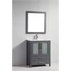 "MTD Vanities Argentina 24"" Single Sink Bathroom Vanity Set, Grey"