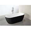 "MTD Vanities Venice 69"" Modern Freestanding Acrylic Bathtub Black Exterior Finish"