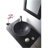 "Rome 36"" Single Vessel Sink Wall Mount Blue Stone Vanity Set"