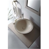 "Rome 36"" Single Vessel Sink Wall Mount Galala Marble Stone Vanity Set"