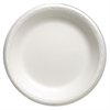 "Genpak Foam Dinnerware, Plate, 10 1/4"" dia, White, 125/Pack, 4 Packs/Carton"