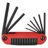 9-Piece Ergo-Fold Hex Key Set, Medium Handle