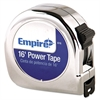 "Empire Power Tape Measure, 3/4"" x 16', Metal Case, Chrome, 1/16"" Graduation"