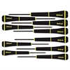 10-Piece Slotted Screwdriver Set, 1-4mm, #000, #00, #0, #1