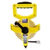 "Open-Reel Fiberglass Measuring Tape,1/2""x100ft, Yellow/White Blade, Yellow Case"