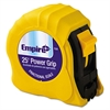 Empire Power Grip Steel Tape Measure, 1in x 25ft, Yellow