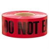 "Do Not Enter Barricade Tape, 3"" x 1000 ft, ""Do Not Enter"" Text, Red/Black"