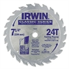 "Classic Series Circular Saw Blade, Framing/Ripping, 24T, 7 1/4"", 18° Hook"