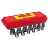 "13-Piece Bolt Extractor Set, 3/8in Drive, 1/4""-3/4"""