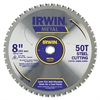 IRWIN 50T Metal Cutting Saw Blade, Ferrous Steel, 8in