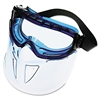 JACKSON SAFETY V90 Series Face Shield, Blue Frame, Clear Lens