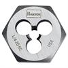 "High-Carbon Steel Fractional Hexagon Die, 1/4""-20, 1"" Diameter"