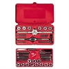 HANSON Tap & Die Set, Steel, 39 Pieces