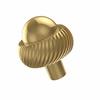 Allied Brass 101AT-UNL 1-1/2 Inch Cabinet Knob, Unlacquered Brass