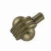 Allied Brass 102AD-ABR 1-1/2 Inch Cabinet Knob, Antique Brass