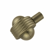 Allied Brass 102AG-ABR 1-1/2 Inch Cabinet Knob, Antique Brass