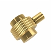 Allied Brass 102G-UNL 1-1/2 Inch Cabinet Knob, Unlacquered Brass
