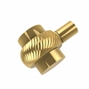 Allied Brass 102T-UNL 1-1/2 Inch Cabinet Knob, Unlacquered Brass