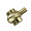 Allied Brass 102T-SBR 1-1/2 Inch Cabinet Knob, Satin Brass