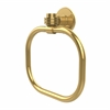 Allied Brass 2016D-PB Continental Collection Towel Ring with Dotted Accents, Polished Brass