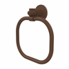 Allied Brass 2016T-ABZ Continental Collection Towel Ring with Twist Accents, Antique Bronze