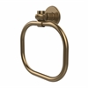 Allied Brass 2016T-BBR Continental Collection Towel Ring with Twist Accents, Brushed Bronze