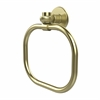 Allied Brass 2016T-SBR Continental Collection Towel Ring with Twist Accents, Satin Brass