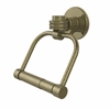 Allied Brass 2024D-ABR Continental Collection 2 Post Toilet Tissue Holder with Dotted Accents, Antique Brass