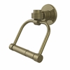 Allied Brass 2024G-ABR Continental Collection 2 Post Toilet Tissue Holder with Groovy Accents, Antique Brass