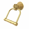 Allied Brass 2024G-UNL Continental Collection 2 Post Toilet Tissue Holder with Groovy Accents, Unlacquered Brass