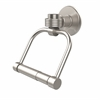 Allied Brass 2024G-SN Continental Collection 2 Post Toilet Tissue Holder with Groovy Accents, Satin Nickel