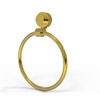 Allied Brass 416D-UNL Venus Collection Towel Ring with Dotted Accent, Unlacquered Brass