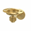 Allied Brass 7126D-PB Satellite Orbit One Tumbler and Toothbrush Holder with Dotted Accents, Polished Brass