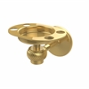 Allied Brass 7126T-PB Satellite Orbit One Tumbler and Toothbrush Holder with Twisted Accents, Polished Brass