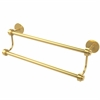 Allied Brass 7272/18-UNL 18 Inch Double Towel Bar, Unlacquered Brass