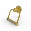 Allied Brass 924D-UNL Mercury Collection 2 Post Toilet Tissue Holder with Dotted Accents, Unlacquered Brass