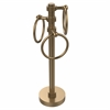 Allied Brass 983D-BBR Vanity Top 3 Towel Ring Guest Towel Holder with Dotted Accents, Brushed Bronze
