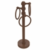 Allied Brass 983G-ABZ Vanity Top 3 Towel Ring Guest Towel Holder with Groovy Accents, Antique Bronze
