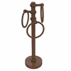 Allied Brass 983T-ABZ Vanity Top 3 Towel Ring Guest Towel Holder with Twisted Accents, Antique Bronze