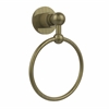 Allied Brass AP-16-ABR Astor Place Collection Towel Ring, Antique Brass
