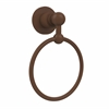 Allied Brass AP-16-ABZ Astor Place Collection Towel Ring, Antique Bronze