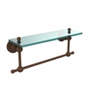 AP-1TB/16-ABZ Astor Place 16 Inch Glass Vanity Shelf with Integrated Towel Bar, Antique Bronze