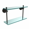 Allied Brass AP-2/16-ORB Astor Place Collection 16 Inch Two Tiered Glass Shelf, Oil Rubbed Bronze