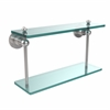 Allied Brass AP-2/16-PC Astor Place Collection 16 Inch Two Tiered Glass Shelf, Polished Chrome