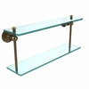Allied Brass AP-2/22-BBR Astor Place Collection 22 Inch Two Tiered Glass Shelf, Brushed Bronze