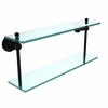 AP-2/22-BKM Astor Place Collection 22 Inch Two Tiered Glass Shelf, Matte Black