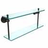 AP-2/22-ORB Astor Place Collection 22 Inch Two Tiered Glass Shelf, Oil Rubbed Bronze