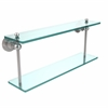 Allied Brass AP-2/22-PC Astor Place Collection 22 Inch Two Tiered Glass Shelf, Polished Chrome
